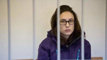 Nightmare: Alexandra Harris, one of the ''Arctic 30'', in Murmansk, Russia.