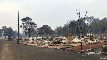 A bushfire devastated the town of Yarloop in Western Australia in January.