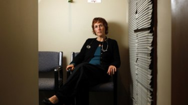 ''Absolutely absurd and illogical'' ...  Canadian-trained Sue Douglas, who lost her right to practise medicine after applying for permanent residency, in her Canberra surgery yesterday.
