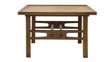 Fred Ward's <i>Blueprint coffee table</i> c.1950 private collection.