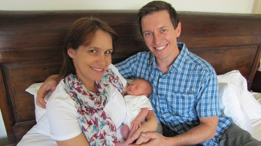 Delighted: Tasma and Rove with baby Ruby Aurelia.