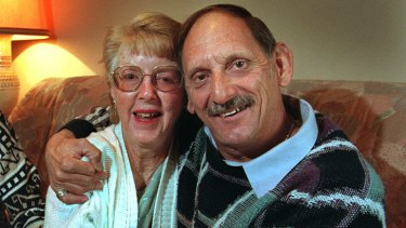 Darryl Beamish, pictured with his wife Barbara, has won an ex-gratia payment for his wrongful murder conviction.