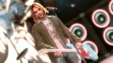 Kurt Cobain in Guitar Hero 5.