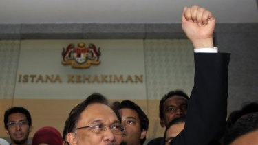 Former deputy prime minister Anwar Ibrahim is serving a five-year jail sentence of what he says are politically motivated sodomy charges.