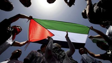 Half baked status in the international community ... Palestine.