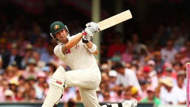 Michael Clarke gave just one chance during his innings.