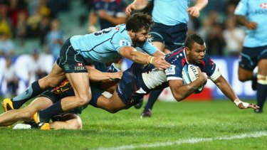 Troubled Rebel: Kurtley Beale has been stood down indefinitely from rugby after last weekend, adding punch-ups with his captain and a teammate to a long list of off-field indiscretions.