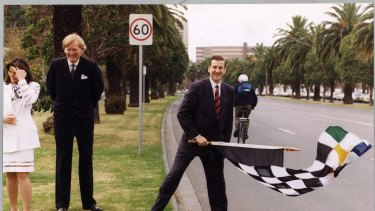 Victorian premier, Jeff Kennett and Ron Walker were instrumental in bringing the Grand Prix to Melbourne.
