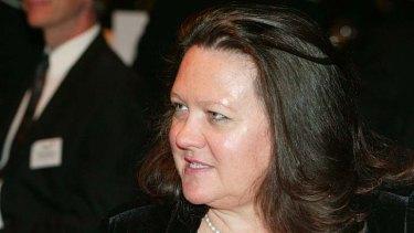 Gina Rinehart ... Australia's richest woman.
