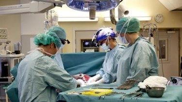 Breakthrough: Surgeons at the University of Goteborg in Sweden practise transplanting wombs at the Sahlgrenska Hospital in Goteborg, Sweden.