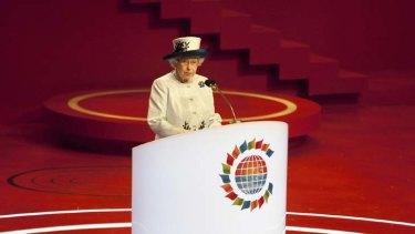"""""""We should not forget that this is an association not only of governments but also of peoples"""" ... Queen Elizabeth II opens the biennial CHOGM in Perth."""