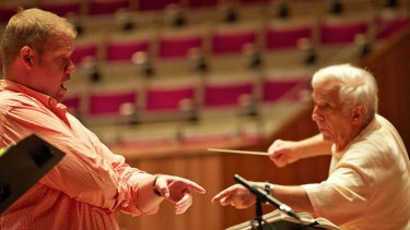 Maturing into his role ... Stuart Skelton rehearses with the Sydney Symphony and conductor Vladimir Ashkenazy at the Sydney Opera House this week.
