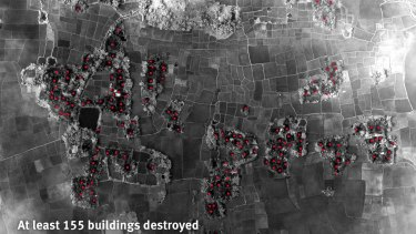 A satellite-based assessment by Human Rights Watch of the arson damage of villages in Myanmar.