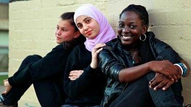 Raw wounds: Asfar Habeb, 13, Maryam Fakhre, 15, and Yusdelice De La Rosa, 20.
