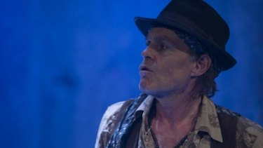 An impressively sustained performance ... Terry Serio as Keith Richards in <i>A Riff on Keef: The Human Myth</i>.