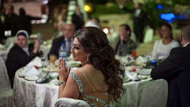 Wedding celebration: Guests at the Dama Rose hotel enjoy all the luxuries of peacetime.