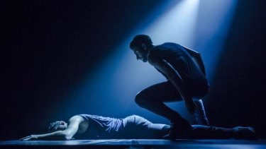 Sydney Dance Company's <i>New Breed - Conform</i> by Kristina Chan featuring dancers Richard Cilli and Petros Treklis.
