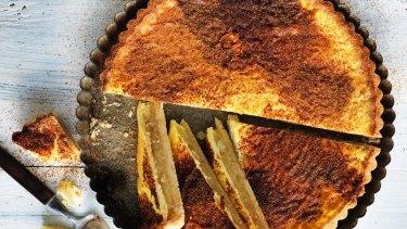 Apple and custard tart.