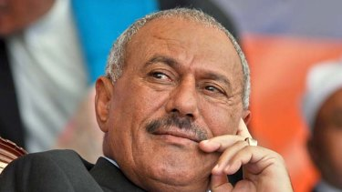 Holding firm ... Ali Abdullah Saleh.