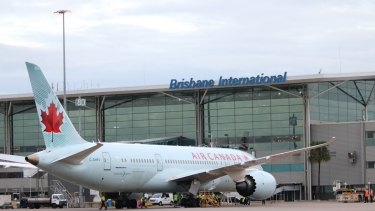 The first of Air Canada's daily direct flights between Brisbane and Vancouver touched down on Friday