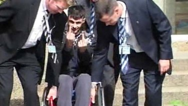 Crime and punishment ... the killer,  Mahmoud Houri, was later disabled when a similar crime went wrong.