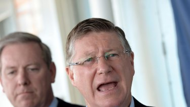 Denis Napthine, whose party is trailing in the latest poll ahead of the state election.