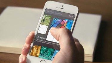 Facebook Paper app.