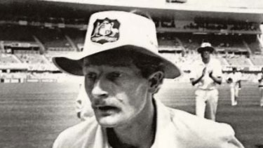 Peter Taylor, man of the match on his Test debut.