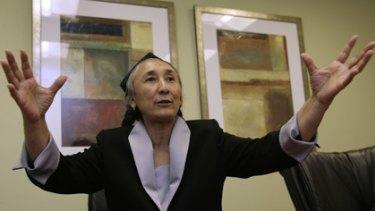 Hoping Australia will take a stand ... the Uighur leader Rebiya Kadeer in Washington on Thursday.