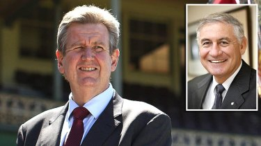 """It's little wonder that accusation fly when Souris [right] and Barry O'Farrell rule out the measures being called for by the police union, emergency services workers""."