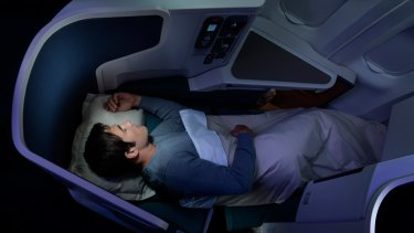 The latest generation of business class, such as Cathay Pacific's (pictured), is all about lie-flat beds and private spaces.