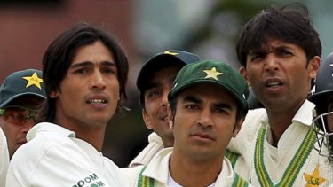 Caught out ... Pakistan's Mohammad Amir, captain Salman Butt and Mohammad Asif during the Lord's Test against England last year.