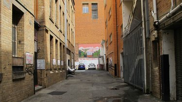 The Elizabeth Street laneway that will be buried under a new tower development.