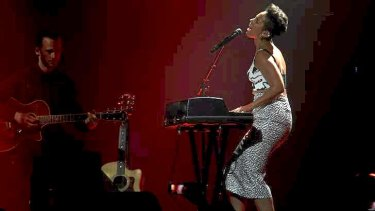 On fire: Alicia Keys brings her latest tour Down Under with a gig at Allphones Arena.