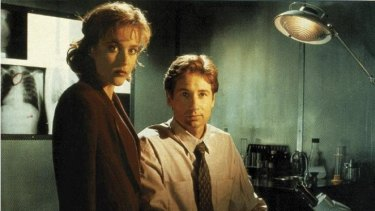 Gillian Anderson and David Duchovny in the original 1990s FOX series.