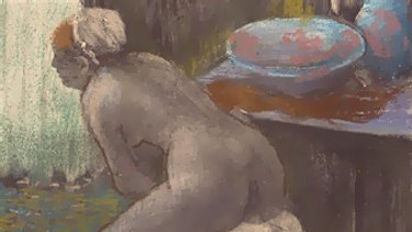 Femme A Sa Toilette...is hardly Blue Poles, says Joe Hockey.