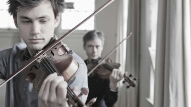 Kristian Winther (left) and Stephen King of the Australian String Quartet.