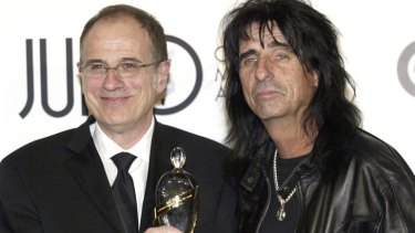 Alice Cooper with producer Bob Ezrin, with whom he worked on <i>Welcome 2 My Nightmare</i>.