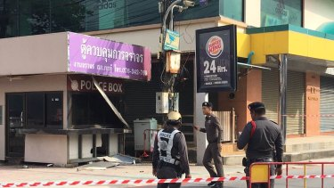 Twin blasts in Patong were among the violent challenge to Thailand's military junta.
