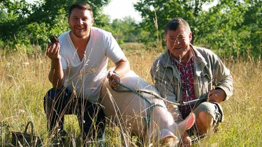 Restless souls: Manu Feildel looking for truffles in Dordogne.