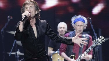 Set to tour Australia ... Mick Jagger (L), Keith Richards (R) and Charlie Watts of The Rolling Stones.
