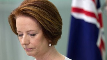 Julia Gillard, in the Cook Islands, speaks to the media about the five Australian soldiers killed in Afghanistan.