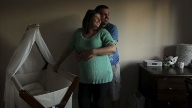 Baby makes three: Expectant parents Catherine Neasbey and Petar Sabados.