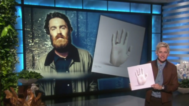 Fan girl: Ellen DeGeneres holds a copy of Chet Faker's album as she introduces a performance by the Melbourne singer-songwriter on her talk show on Wednesday.