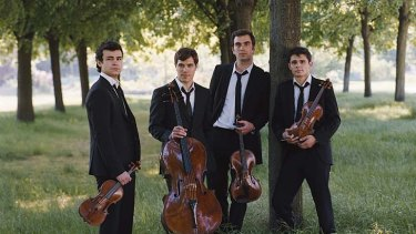 At their enterprising best ... the Mondigliani String Quartet.