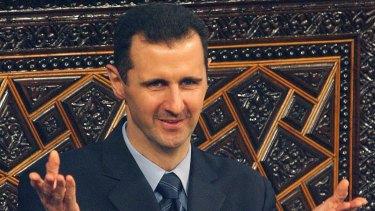 Syrian President Bashar al-Assad in December.
