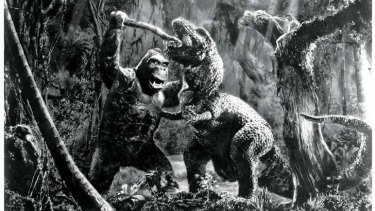 A still from the 1933 film of <i>King Kong</i>.