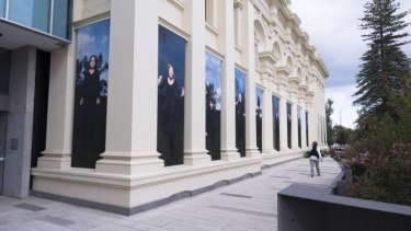 Archetypes of wrath: Kate Just's installation <i>The Furies</i> outside the St Kilda Town Hall.