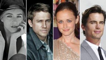 Question of chemistry: (from left) Dakota Johnson; Charlie Hunnam; Alexis Bledel; Matt Bomer.