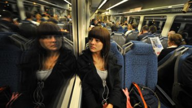 Stephanie Sinclair-Robb going home to Sunbury on a Bendigo V/Line train.
